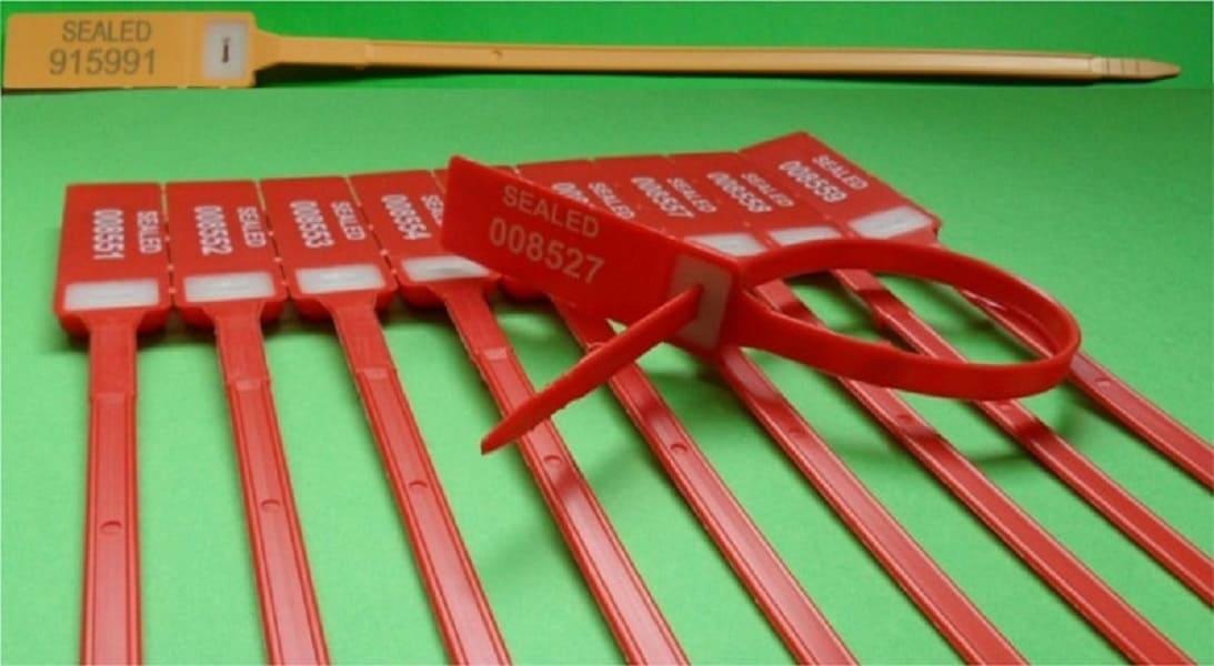 Sigillo Plastica Regolabile Fascetta Inserto Metallico Min Min