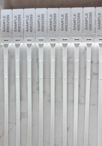 Sigillo Di Sicurezza Regolabile In Plastica 30cm Dettaglio