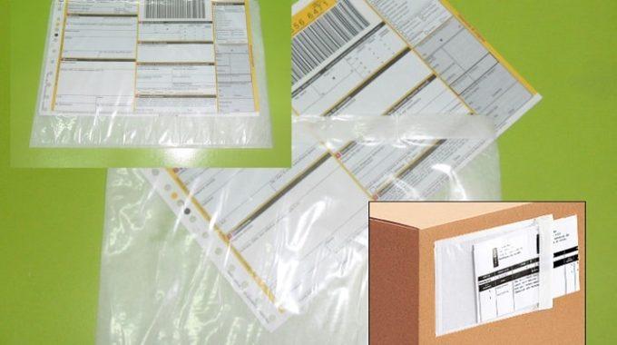 BUSTE PORTA-PACKING-LIST KHALI, Buste Portadocumenti Adesive 240×180 Mm